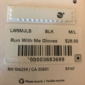lululemon athletica Accessories - NWT Lululemon Run With Me Gloves